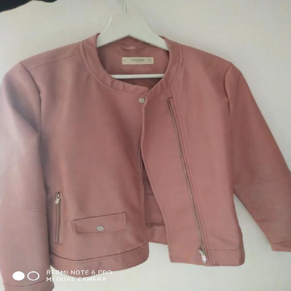 Chaqueta motera rosa