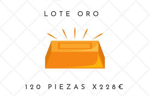 Lote oro / 120 piezas cosmética surtida