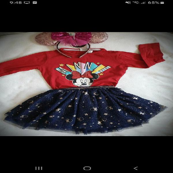 Minnie my dreams camiseta y falda fantasía