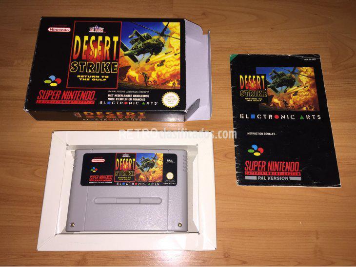 Se vende Desert Strike Juego Original Super Nintendo