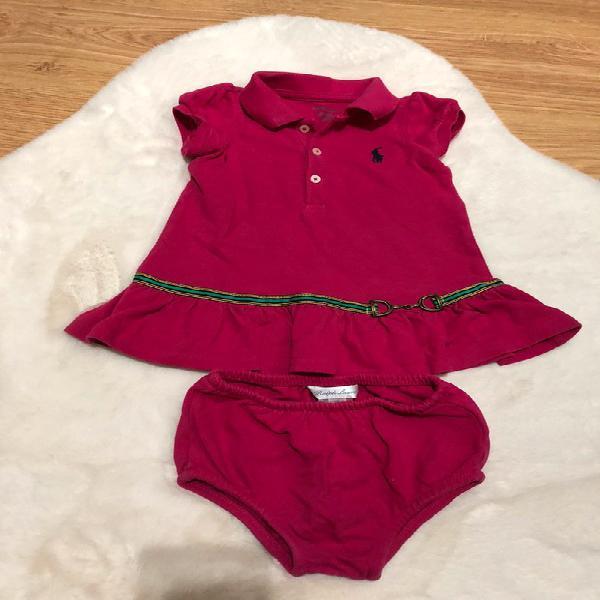 Vestido bebé ralph lauren talla 6 meses