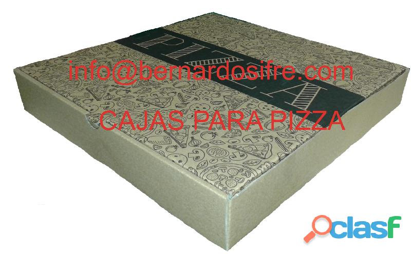CAJAS DE CARTON PARA REPARTO DE PIZZA DE 33 X 33