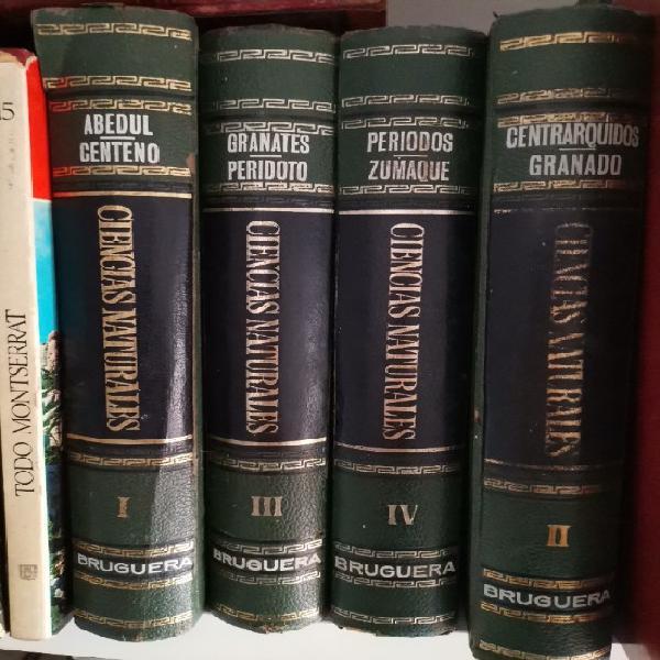 Ciencias naturales enciclopedia bruguera de 1967 4 tomos muy