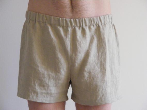 Pantalones cortos de lino para hombre. verano casual simple