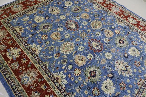 Sky blue (8.3x10) area rug, 250x300 cm rug, afghan hand