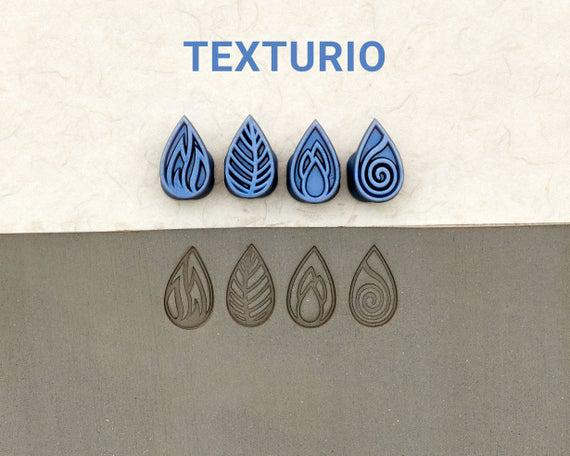 Texturio pottery stamps, polymer clay tools, soap stamp,