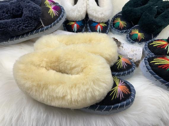 Zapatillas de piel de oveja / zapatillas de piel de oveja
