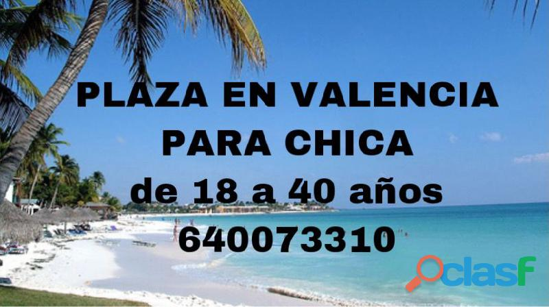 Plazas disponibles scort Valencia.
