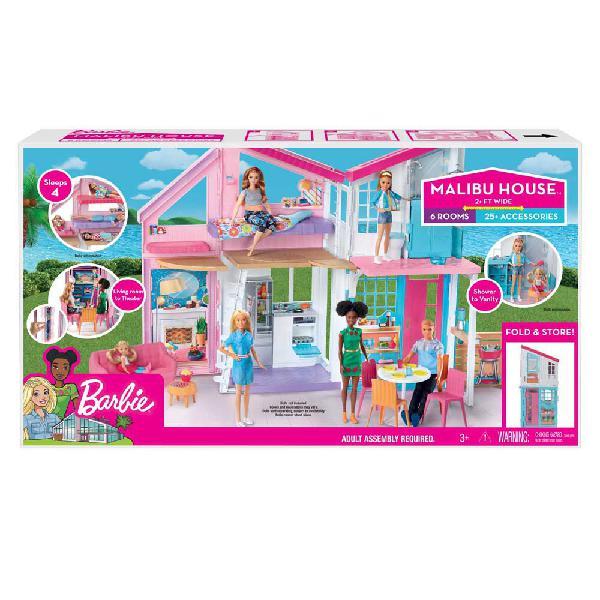 Barbie malibu house 2 story 6 room dollhouse