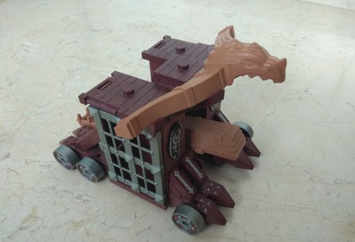Playmobil caballero - gran catapulta con celda y armero -