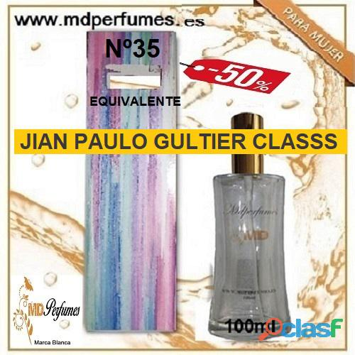 Oferta Perfume Alta Gama Equivalente Mujer JIAN PAULO GULTIER CLASSS Nº35 100ml 10€