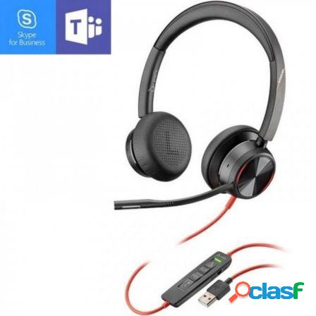 Auriculares plantronics blackwire 8225m/ con microfono/ usb/ negros