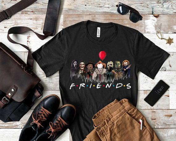 Amigos camisa de halloween, camisa de terror escuadrón,