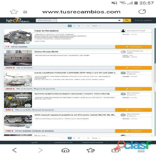 Ha nacido una web donde podrás vender tus piezas de recambio entre otros