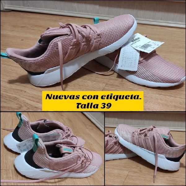 Zapatillas adidas questar flow rosas talla 39 1/3 nuevas