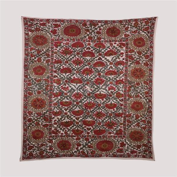 Algodón afgano en seda bordado tapicería pared colgante,
