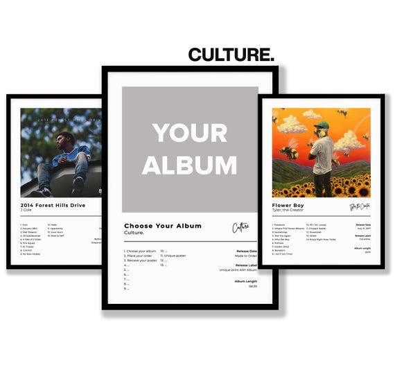 Elija su álbum - impresión de cartel de portada de álbum