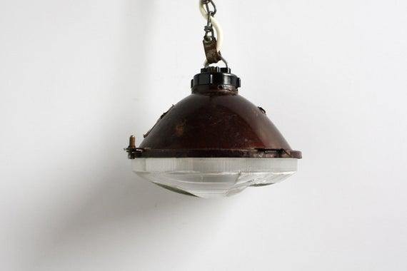 Lámpara colgante de metal ? faro retro, iluminación,