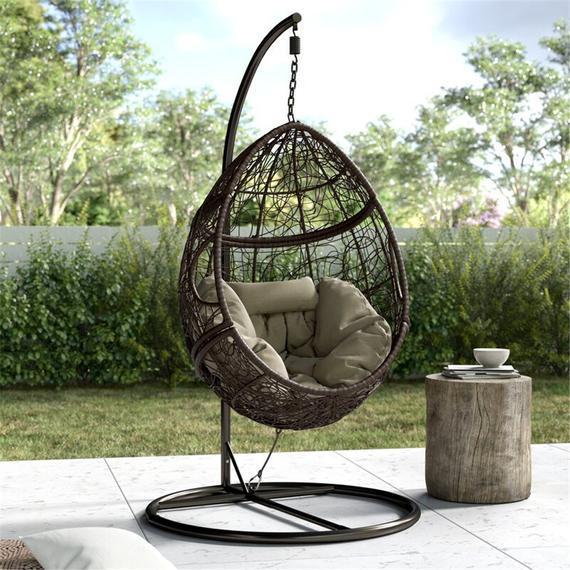 Patio interior exterior wicker silla colgante swing hamaca