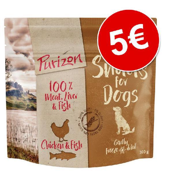 Purizon snacks para perros 100 g ¡por solo 5 €!