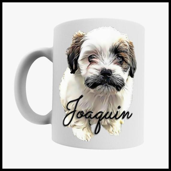 Taza de perro personalizada, taza de cara de perro, taza de