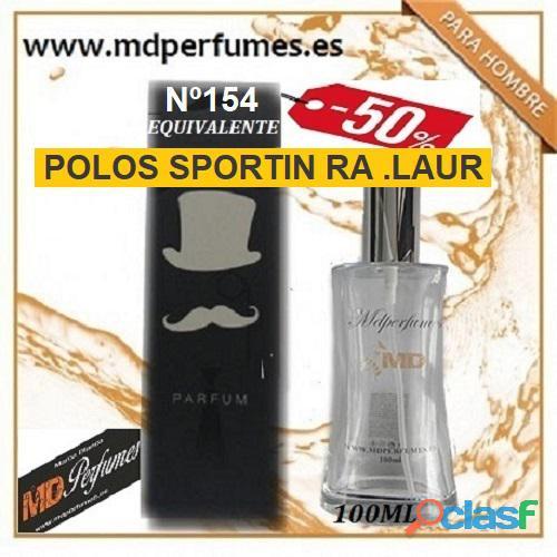 Oferta 10€ perfume polos sportin ra .laur nº154 alta gama equivalente hombre 100ml