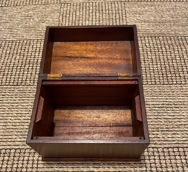 Caja madera roble para brújula compas
