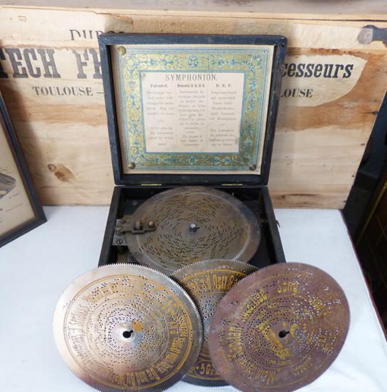 Caja de música symphonion de 1890