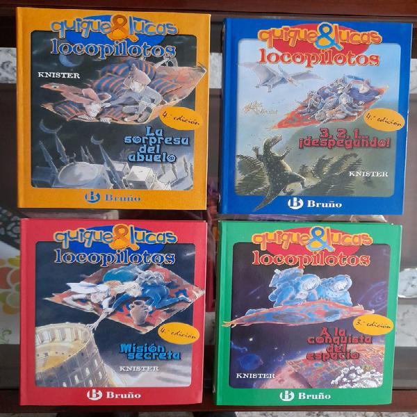Colección 4 libros quique&lucas