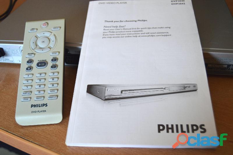 Reproductor de DVDs modelo Philips DVP 3040 3