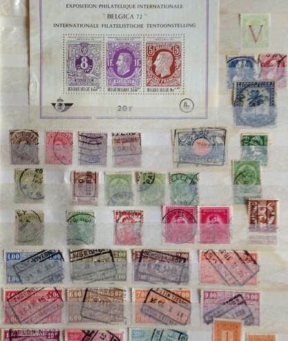 Album de sellos belgica/yugoslavia/malta