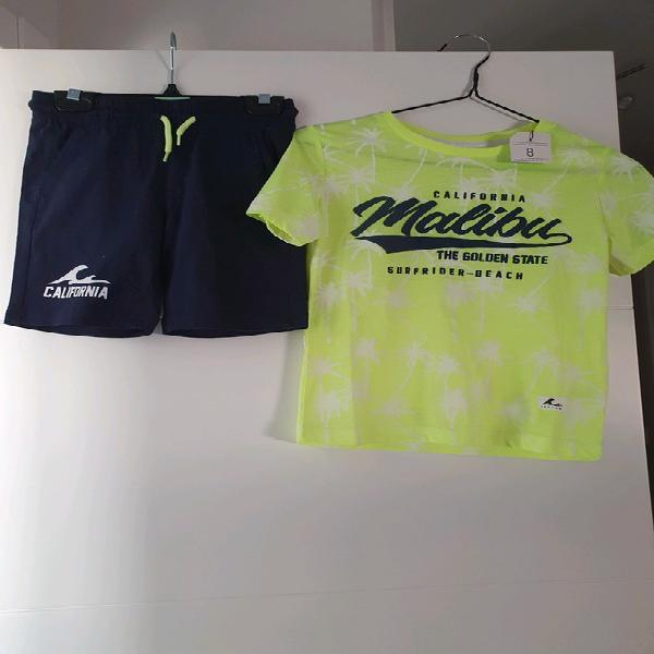 Conjunto camiseta y pantalón niño 8 años
