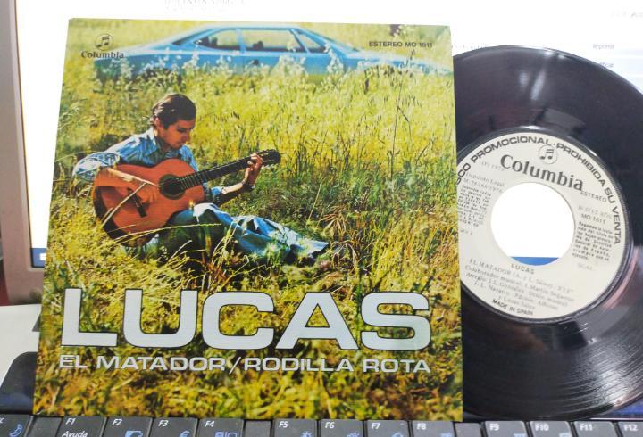 Lucas single promocional el matador.1976,en perfecto estado