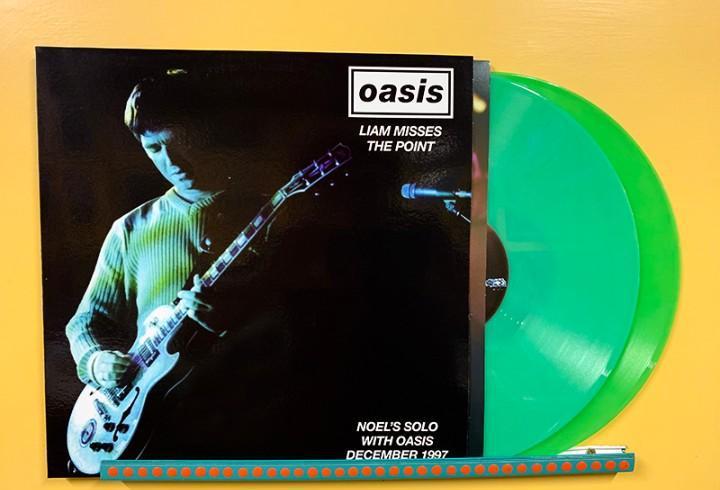 Oasis 2xlp liam misses the point doble lp vinilo color verde