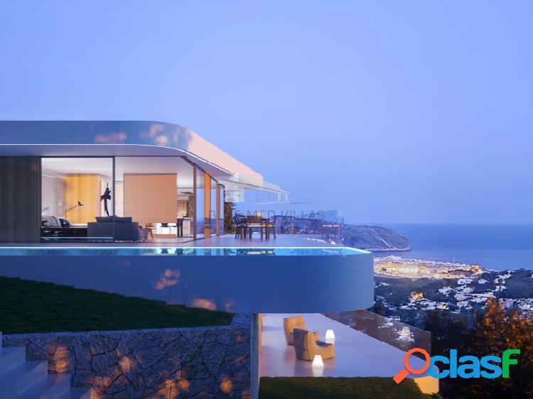 Proyecto de villa de lujo con vistas al mar en venta en moraira