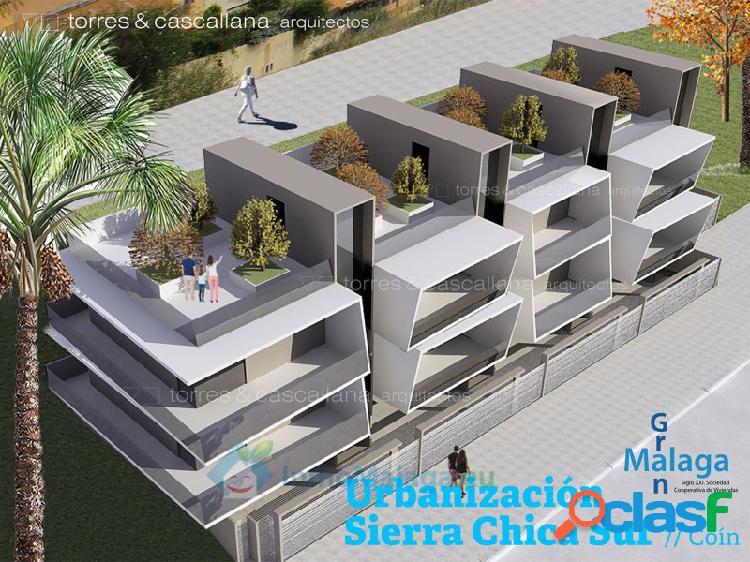 Nueva promocion de casas adosadas en sierra chica sur, coín málaga