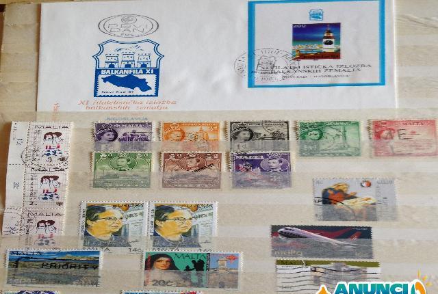 Album de sellos de belgica/yugoslavia/malta - sevilla
