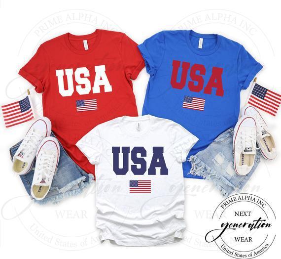 Camisa de bandera de ee.uu., camisa de bandera americana,