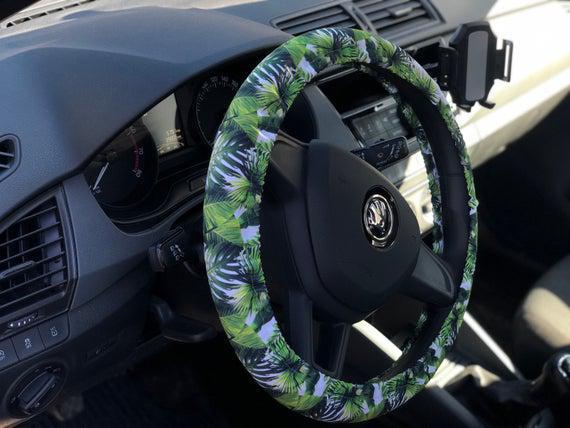 Cubierta tropical del volante. accesorios para coches con