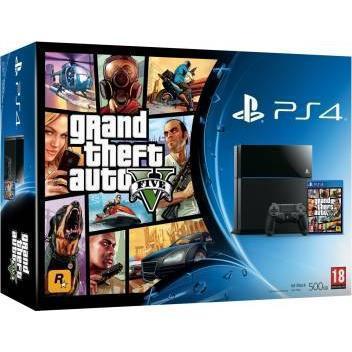 Sony playstation 4 500gb + controlador + juego grand theft