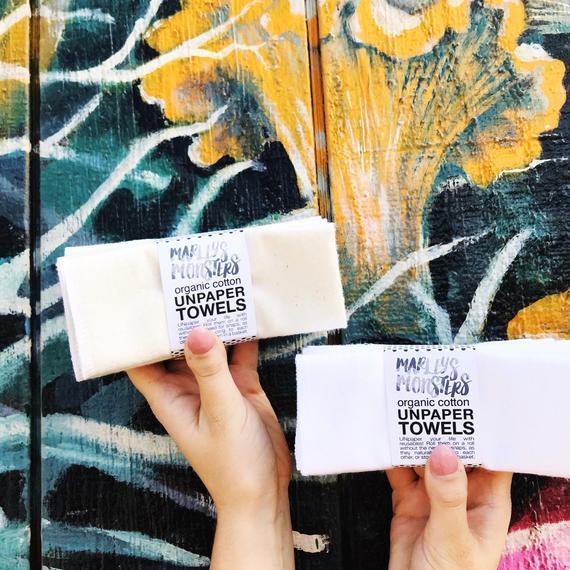 Toallas ® unpaper: orgánicas. natural o blanco. elija