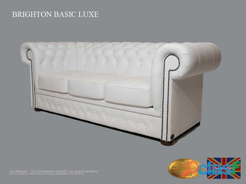 Sofá Chester Brighton Basic *3 plazas* Blanco *Cuero 1
