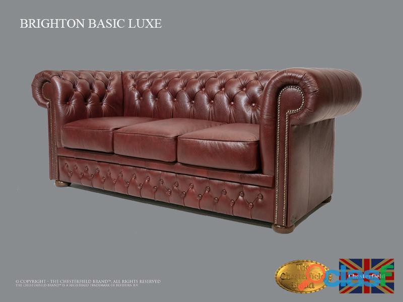 Sofá Chester Brighton Basic *3 plazas* Cloudy Red *Cuero 1