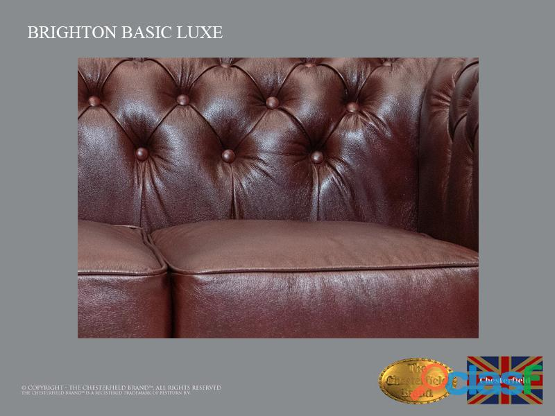 Sofá Chester Brighton Basic *3 plazas* Cloudy Red *Cuero 3