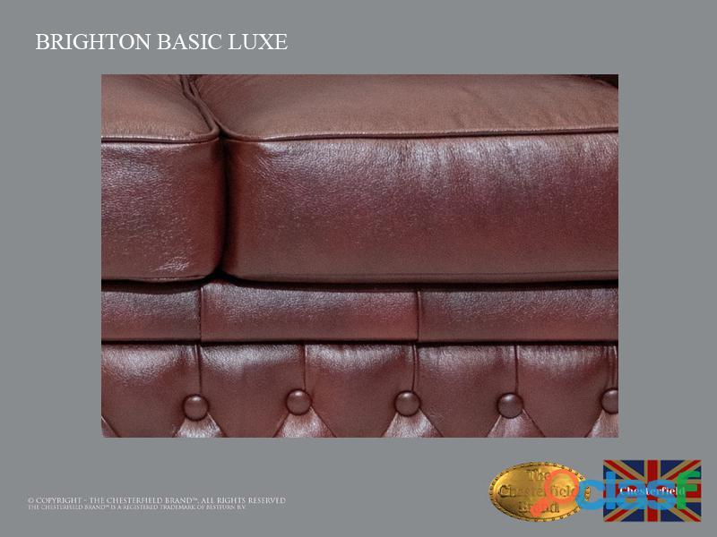Sofá Chester Brighton Basic *3 plazas* Cloudy Red *Cuero 4