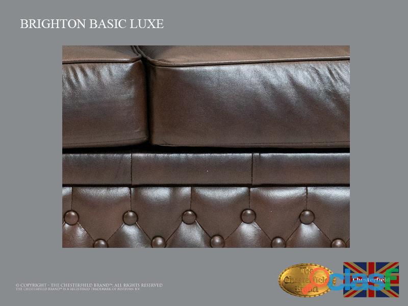 Sofá Chester Brighton Basic* 3 plazas* Cuero*Cloudy Dark Brown 3