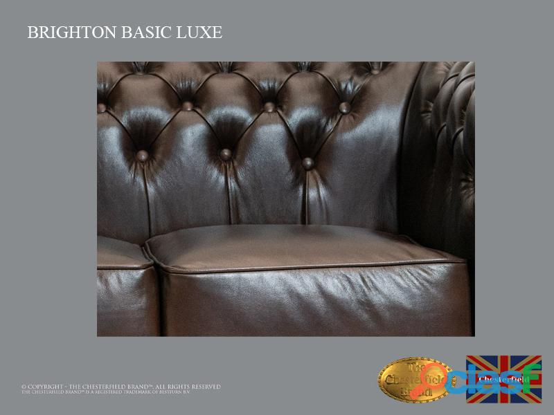 Sofá Chester Brighton Basic* 3 plazas* Cuero*Cloudy Dark Brown 4