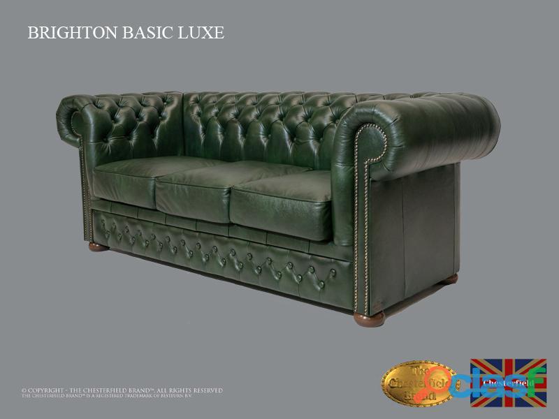 Sofá Chester Brighton Basic* 3 plazas* Cuero*Cloudy Green 4