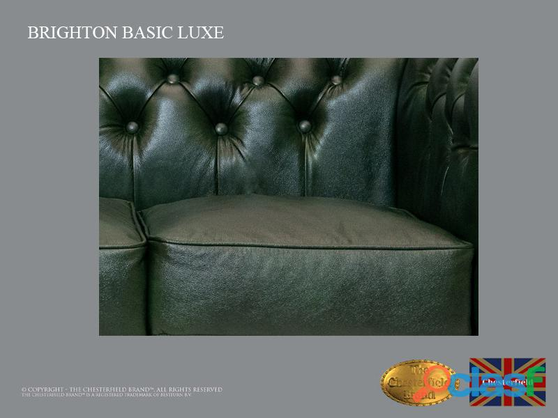 Sofá Chester Brighton Basic* 3 plazas* Cuero*Cloudy Green 5
