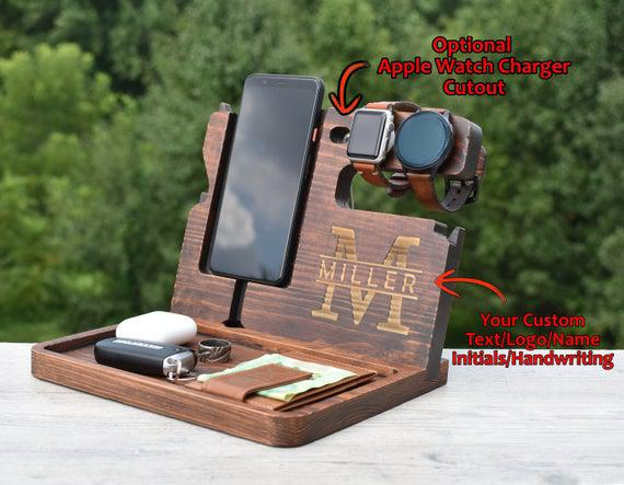 Wooden docking station, unique holiday gift, christmas, new